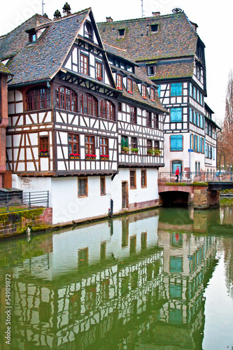 Old town of Strasbourg, France