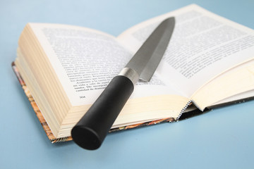 Book and knife