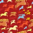 horse seamless pattern