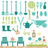 Garden related silhouette icons - 54990645