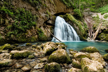 Beautiful cascade in Transylvania, Romania, Western Carpathians