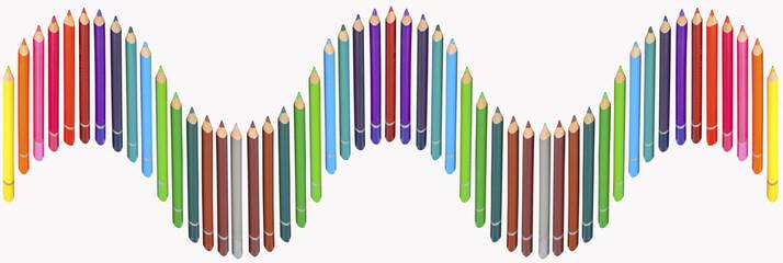 farandole de crayons de couleurs
