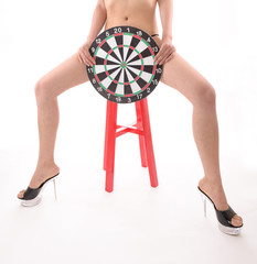 Sexy Girl with bulls-eye
