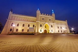 Medieval royal castle in Lublin at night, Poland