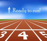 Fototapety Running track
