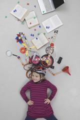 Mädchen mit Gadgets