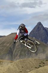 Italien, Livigno, Mountainbiker