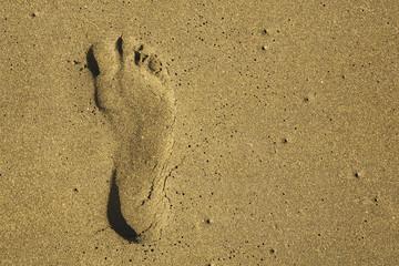 Italien, Fußabdruck im Sand