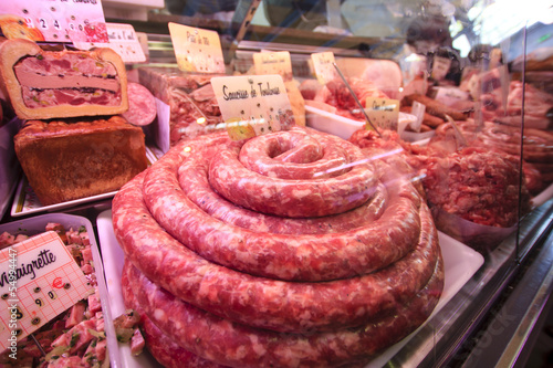 Toulouse sausage - french meat specialty