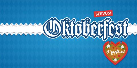 Oktoberfest Einladung DIN lang