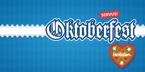 Oktoberfest Invitation DIN lang