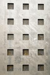 Metallplatte mit Quadraten