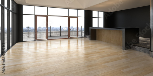 Empty Penthouse Apartment