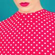 close-up portrait of a stylish retro girl