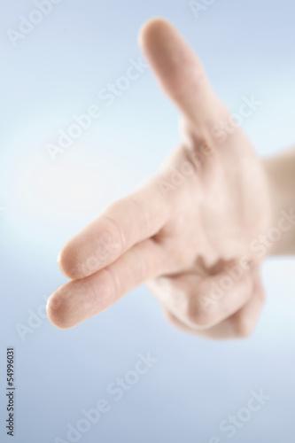 Hand Geste, Schießen Symbol