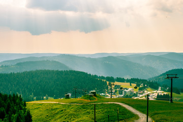 landscape  in the Black Forest, Germany Feldberg