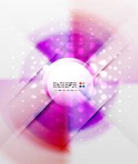 Radial colorful futuristic background