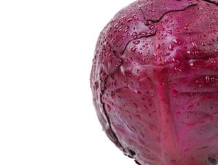 Half red cabbage.