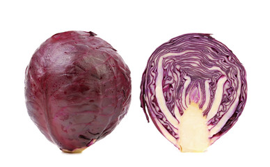 Red cabbage and slice.