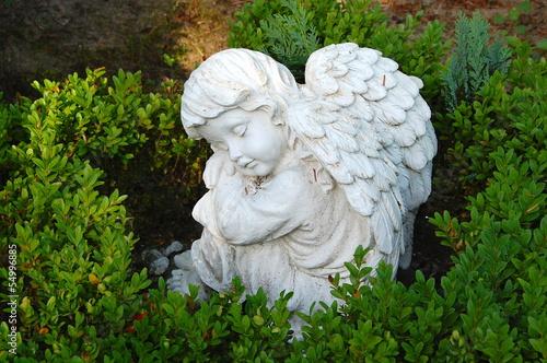 Leinwandbild Motiv sitzender Engel