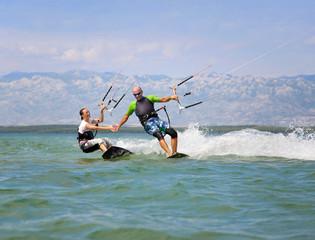 Kroatien, Zadar, Kitesurfer Spaß