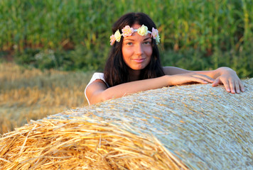 Girl at cornfield
