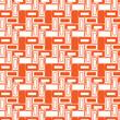 Set of orange rectangle geometric seamless pattern