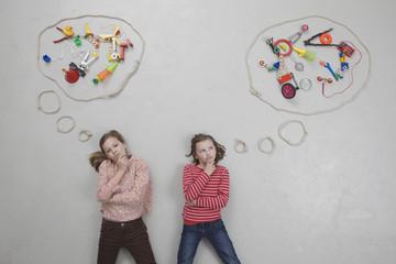Mädchen mit Gedankenblase