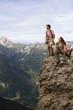 Österreich, Salzburger Land, Paar am Berg