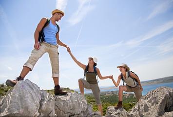 Kroatien, Zadar, Freunde Wandern
