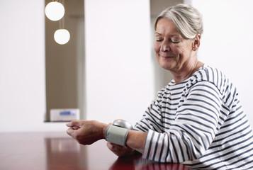 Deutschland, Wakendorf, erwachsene Frau, Blutdruckkontrolle
