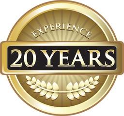 Twenty Years Experience Pure Gold Award