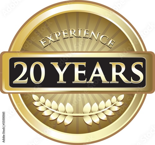 Twenty Years Experience Pure Gold Award