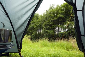 Camping Zelt auf der Wiese