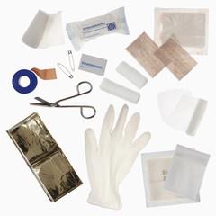 Inhalt eines Erste-Hilfe-Kits