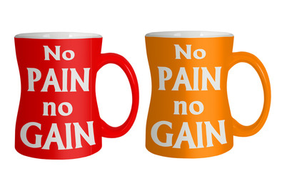 No pain no gain weight loss diet mugs