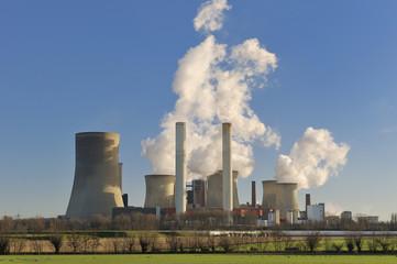 Deutschland, Niederaußen, feuerte Kohlekraftwerk