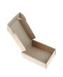 open carton box on white background