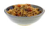 Vegetable Pilaf In Bowl Side