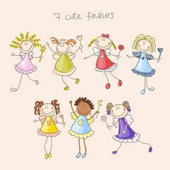 Cute fairies illustration