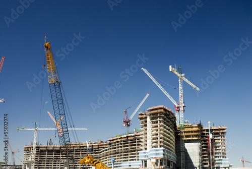 USA, Nevada, Las Vegas, Baustelle mit Baukränen
