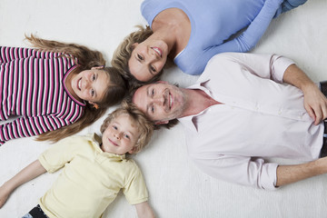 Draufsicht der Familie