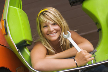 Junge Frau, Lächeln