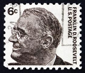 Postage stamp USA 1966 Franklin Delano Roosevelt