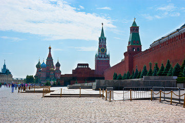 The architectural ensemble of the Red Square