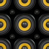 Audio Speaker Seamless Pattern