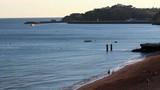 Albufeira fishermen beach scenario (Praia pescadores, Algarve) poster