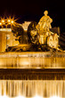 Cibeles Fountain at Night