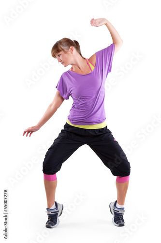 tanzende Frau auf Zehenspitzen