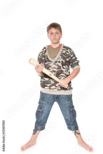 boy with the bat